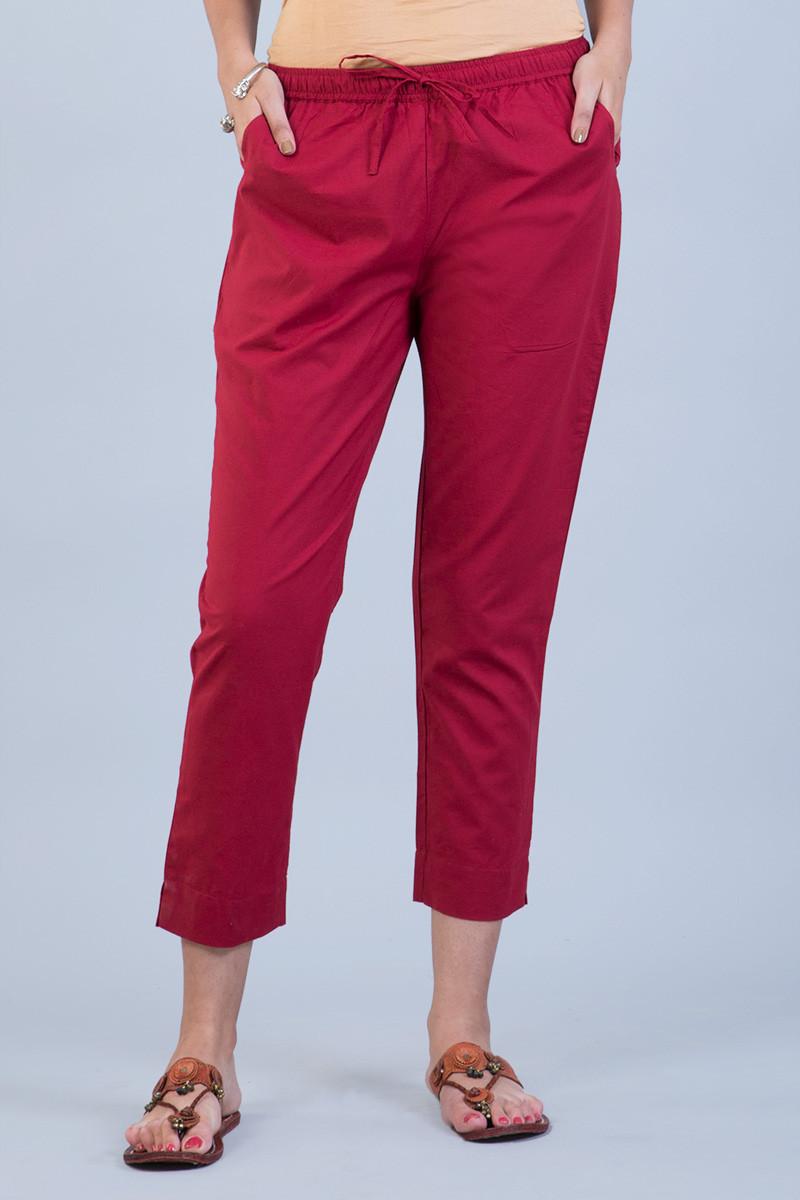 Red Narrow Pants - Image View 1