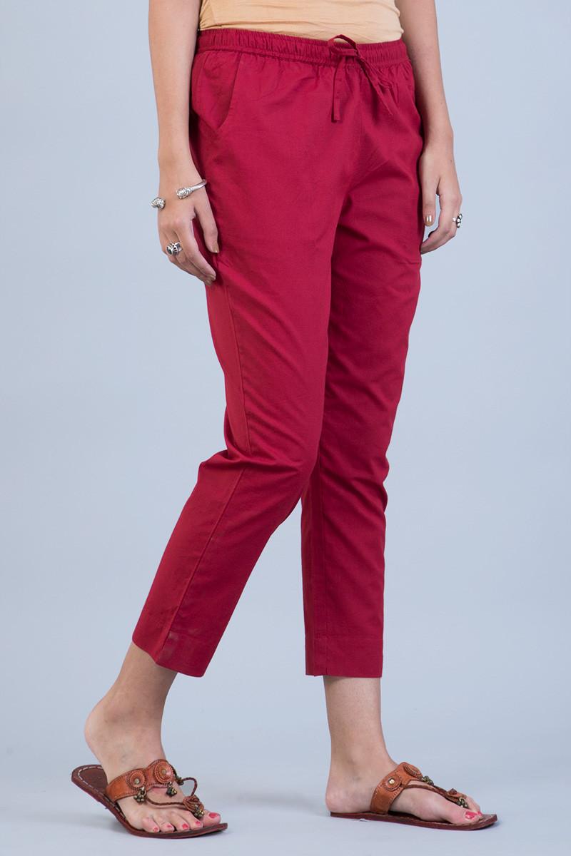 Red Narrow Pants - Image View 2