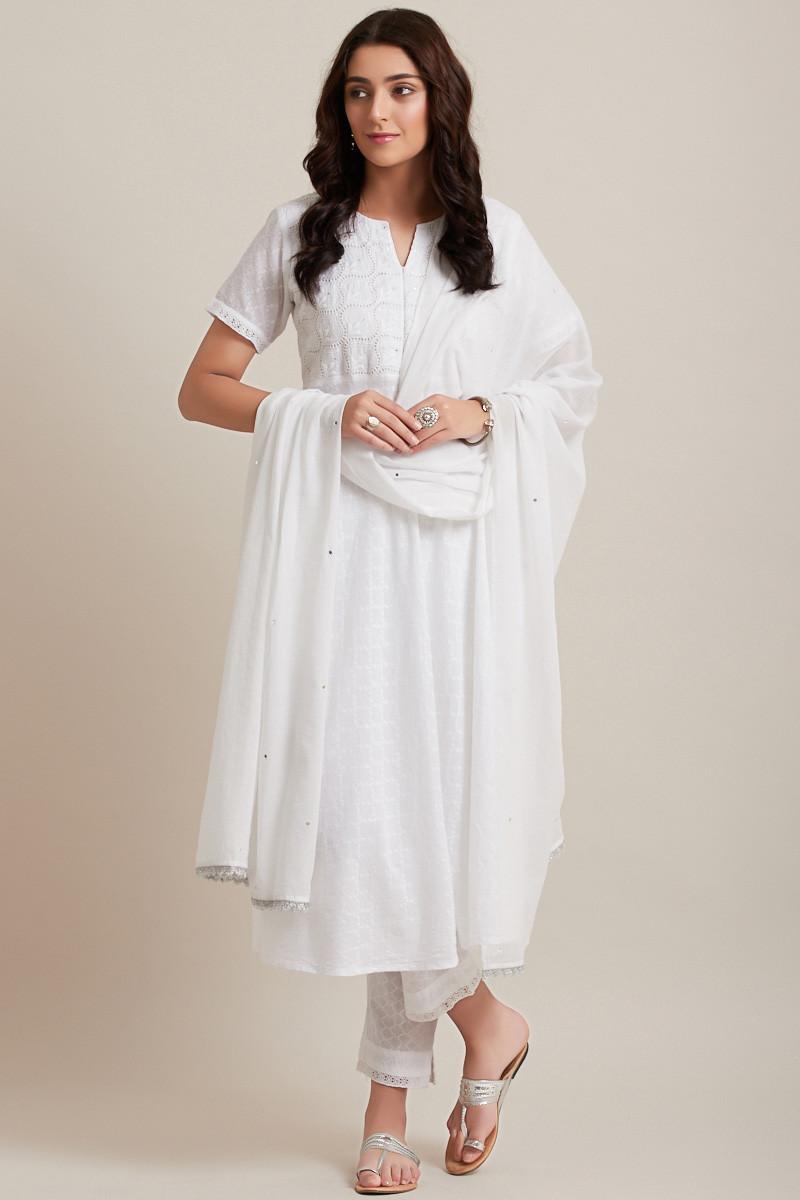 Chand Bagh Cotton Dupatta - Image View 1