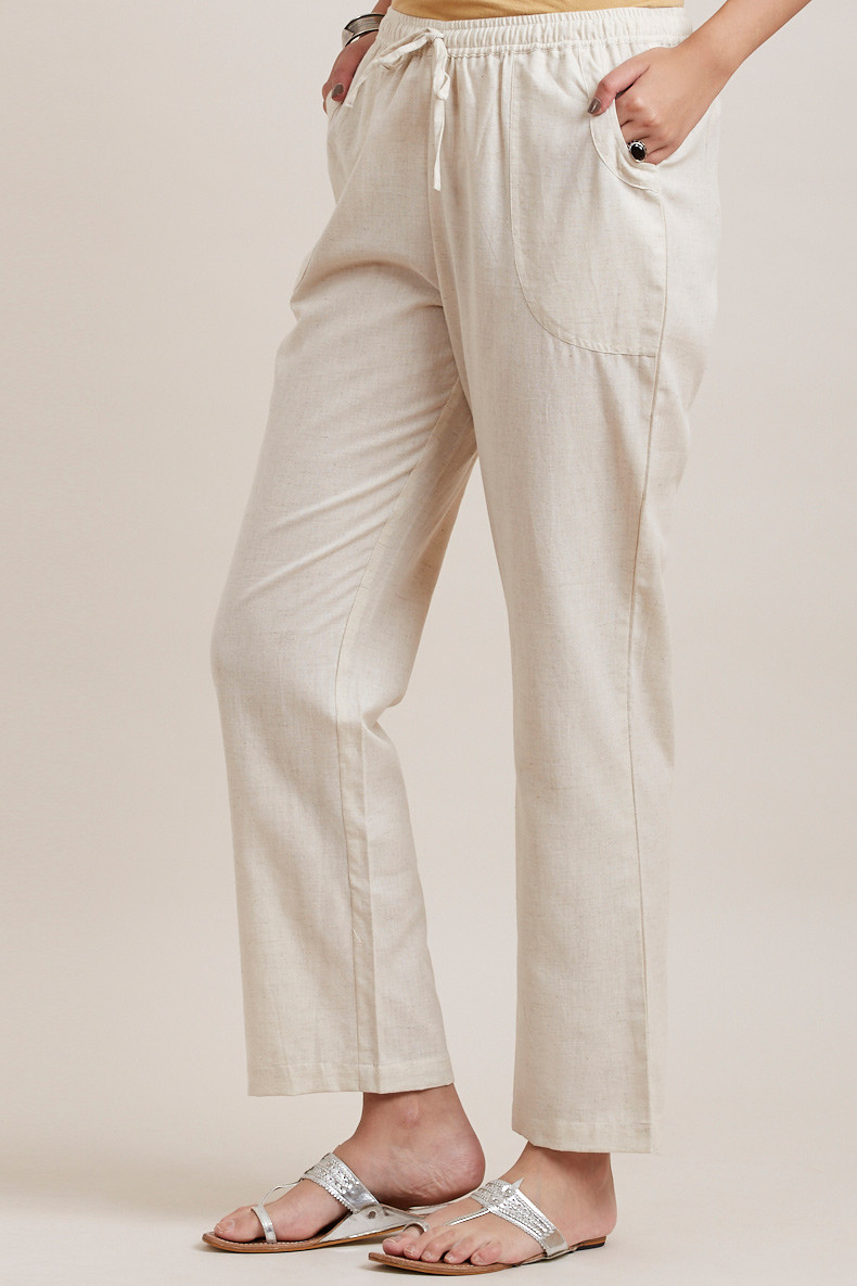 Off-White Cotton Pants - Image View 3