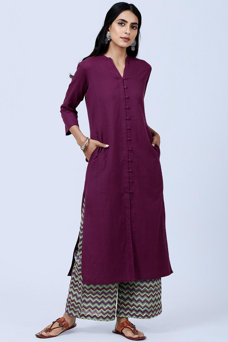 Roza Nazeena Leheriya Purple Farsi - Image View 1