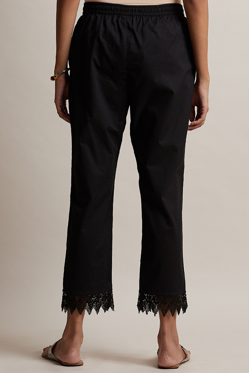 Roza Black Narrow Pants - Image View 4