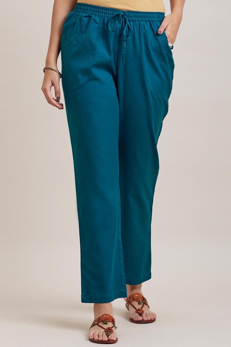 Roza Zara Egyptian Blue Pants - Image View 1