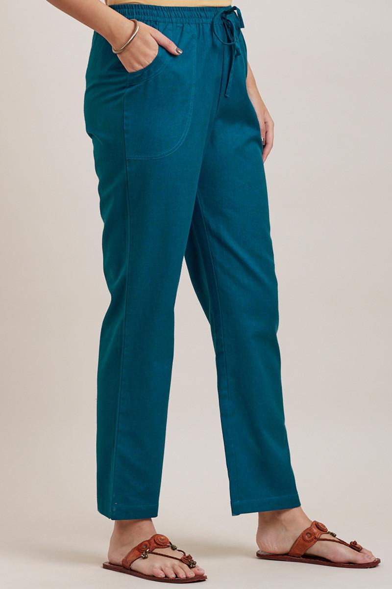 Roza Zara Egyptian Blue Pants - Image View 2