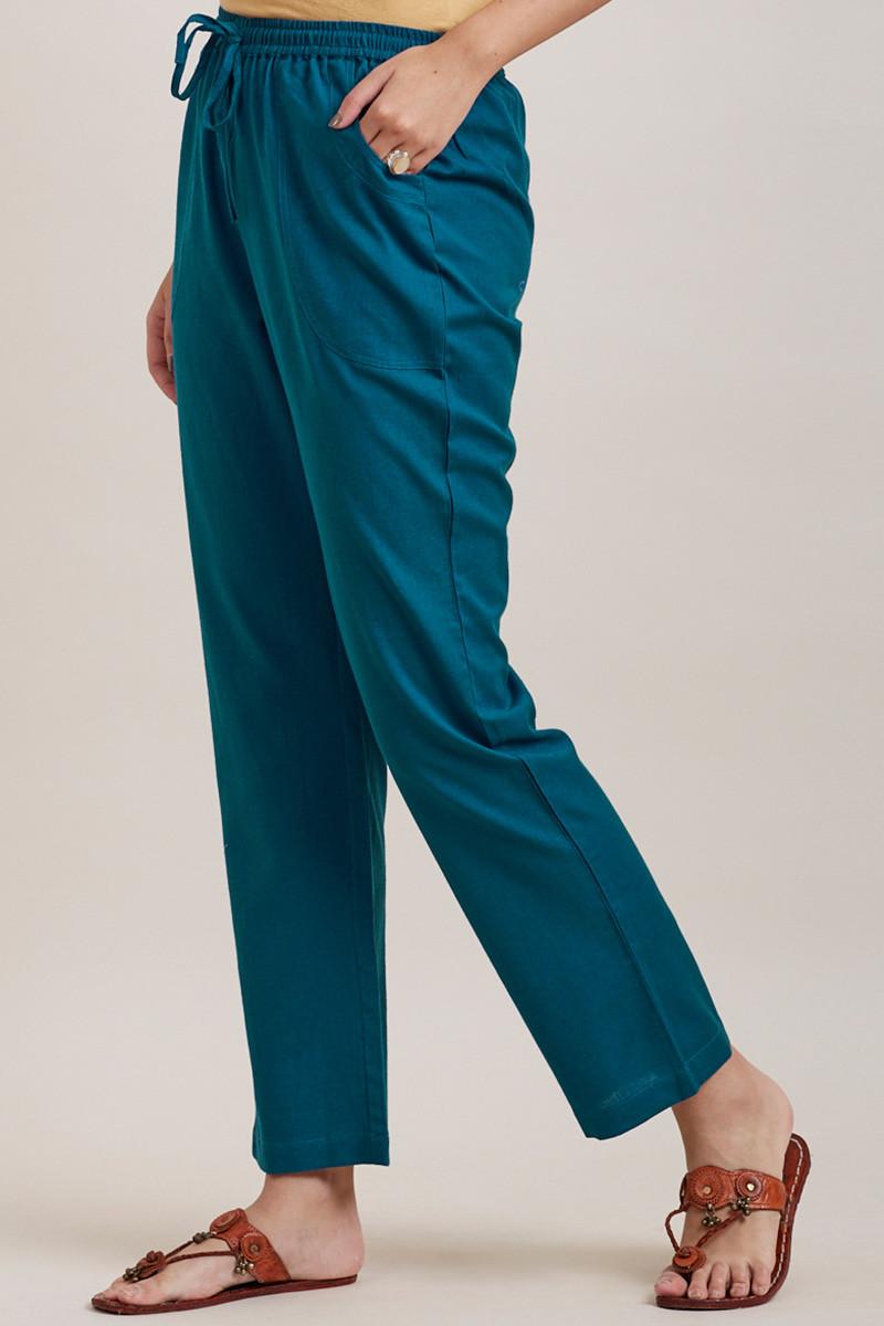Roza Zara Egyptian Blue Pants - Image View 3