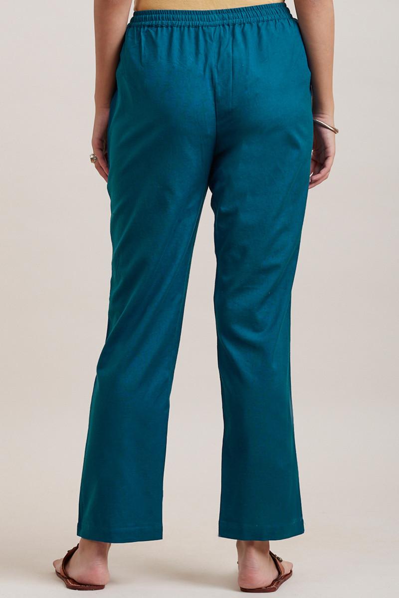 Roza Zara Egyptian Blue Pants - Image View 4