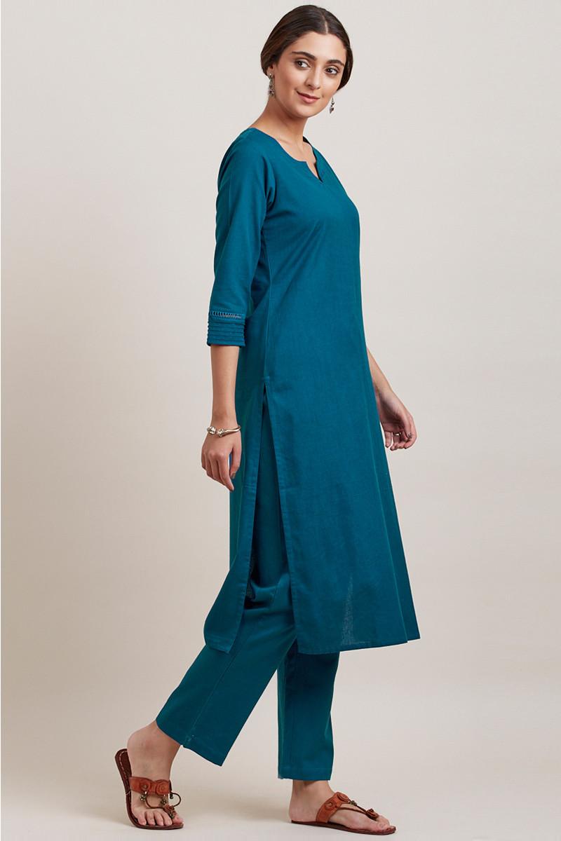 Roza Zara Egyptian Blue Pants - Image View 5