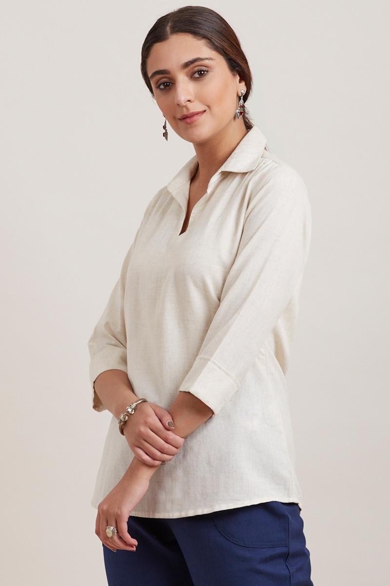 Roza Zara Off-White Top - Image View 4