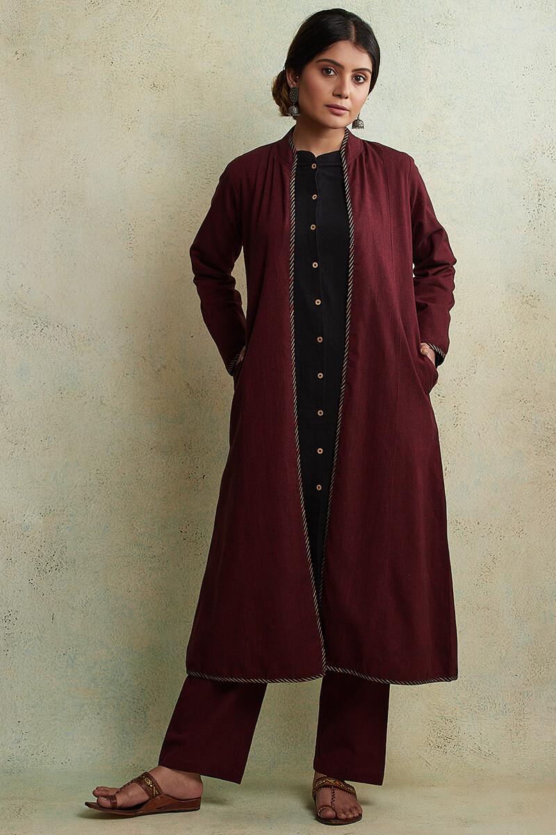 Zahabiya Heer Reversible Handloom Jacket - Image View 2