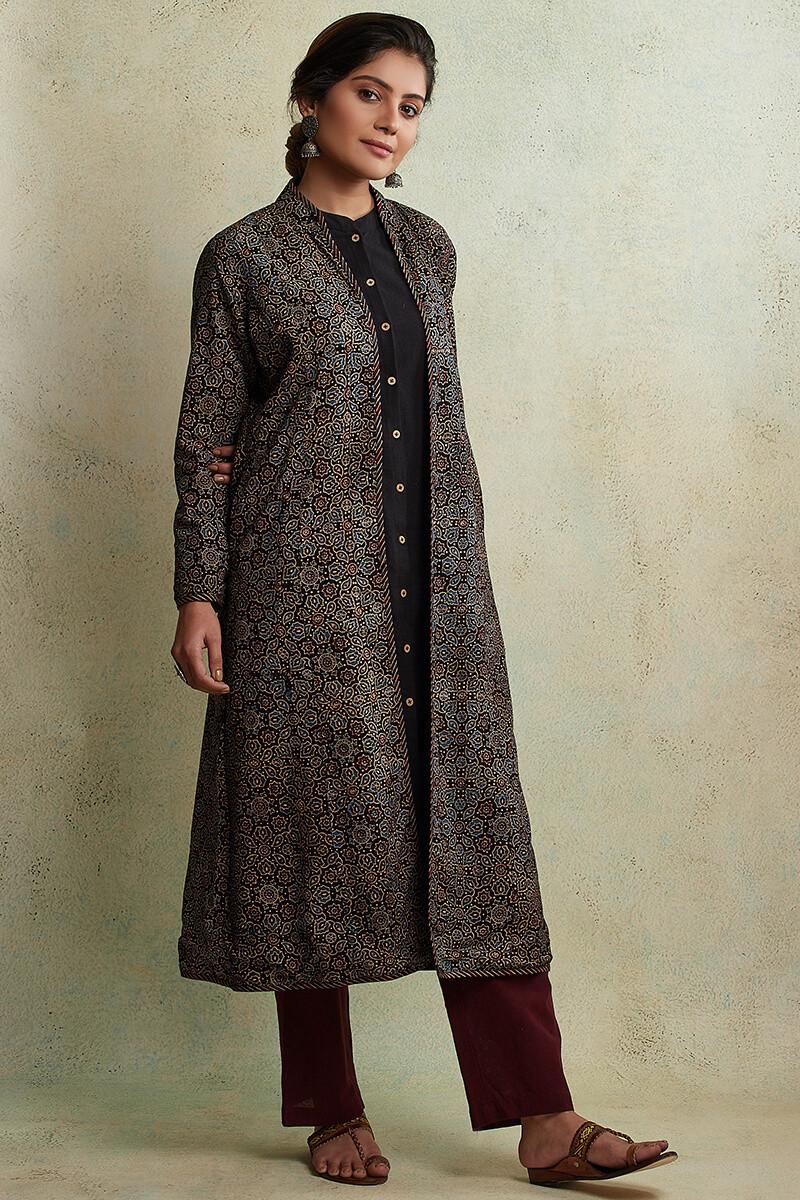 Zahabiya Heer Reversible Handloom Jacket - Image View 3