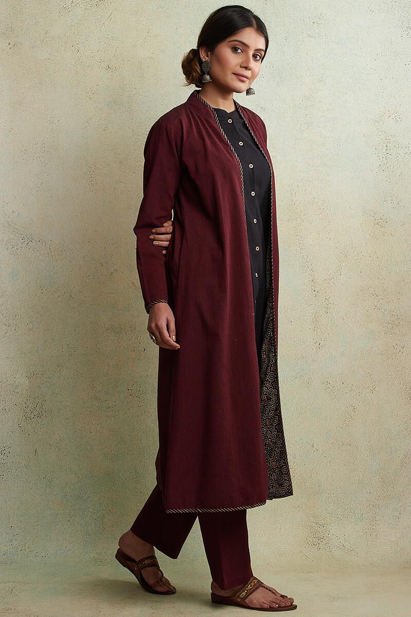 Zahabiya Heer Reversible Handloom Jacket - Image View 4