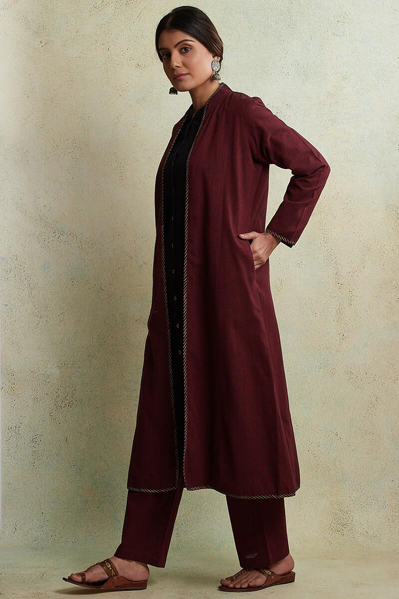 Zahabiya Heer Reversible Handloom Jacket - Image View 6