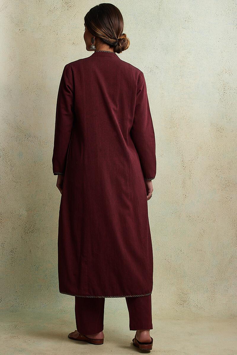 Zahabiya Heer Reversible Handloom Jacket - Image View 8