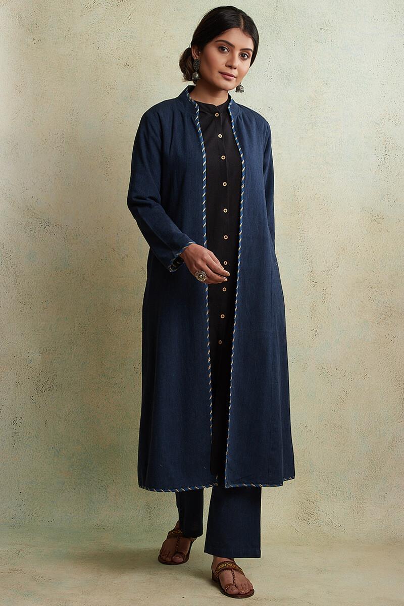 Zahabiya Jiya Reversible Handloom Jacket - Image View 2