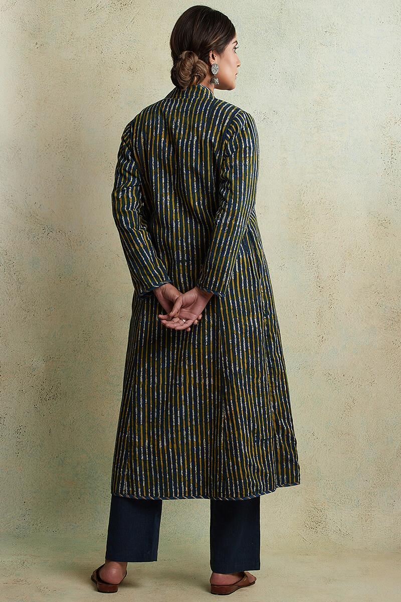 Zahabiya Jiya Reversible Handloom Jacket - Image View 7